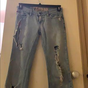 Destressed Hollister jeans